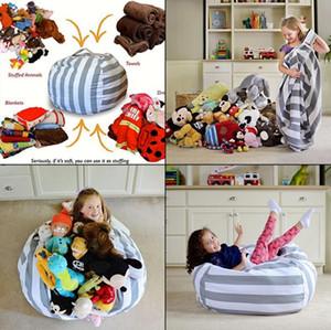 Sacchetto di fagioli di immagazzinaggio di animali farciti sedia 61 cm portatile per bambini giocattolo organizzatore giocare tappetino vestiti casa organizzatori 10 pz OOA3879