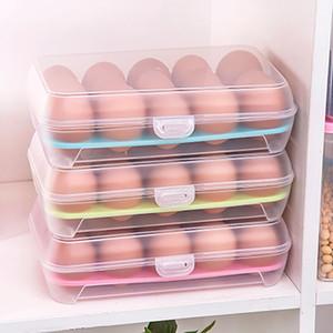 Yeni Şeffaf Yumurta Için Yumurta Saklama Buzdolabı Sebzelik 15 Izgaralar Yumurta Depolama Sepeti Izgara Taşınabilir Yumurta Kartonları Mutfak Aracı WX9-257
