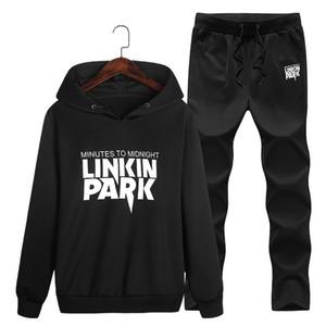 Homens camisola agasalho sportswear conjunto suor nova marca primavera outono 2 pcs gola velo patchwork casual mens ternos hoodie