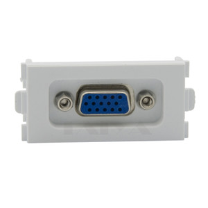 15 Pin soldadura VGA Computer Sockets placas de pared VGA 86 Panel 3 + 4 Blanco Módulo VGA