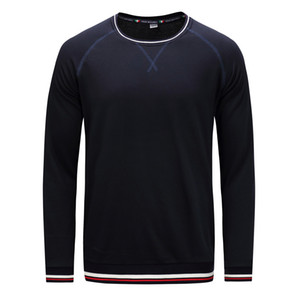 Mens Simple Design Solid Color Long Sleeve T-shirt Male Casual Bottoming Shirts Thin Pullover Crew Neck Tops Free Shipping