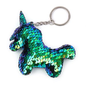 Unicorn Keychain Glitter Sequins Key Ring Gifts for Women Llaveros Mujer Charms Car Bag Accessories Key Chain Party Favor