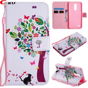 Cartoon Blume Brieftasche Ledertasche Für LG K8 2018 K10 Huawei MATE 20X10 PRO P9 LITE MINI P20 ONEPLUS 6 Strap Katzenfeder Tiger Ständer Abdeckung