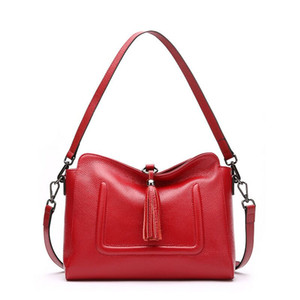 High quality new leather bag lady bag lady, simple fashion single shoulder bag lady.