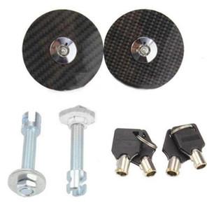 Kit de bloqueo universal de aleación de aluminio Racing Car Mount Bonnet Hood Latch Pin Key Black