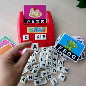 Frete grátis Parent-criança brinquedo interativo Educação na primeira infância Iluminação Inglês Palavra aprendizagem criança auxiliares de ensino Inglês placa g