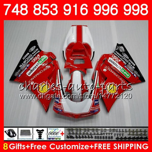 Kit para DUCATI 748 853 916 94 95 96 97 98 99 00 01 02 104HM.0 996 998 S R 1994 1995 1996 1997 1998 1999 2000 2001 2002 Fairing Factory red