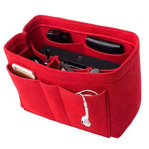 Felt (3MM) Insert Purse Organizer Insert for Purse Handbag Tote Bag، Multi Pocket Bag in Bag Organizer for Tote Handbag Shaper. 3 أحجام
