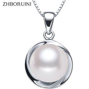 ZHBORUINI Grande collana di perle 3 colori gioielli di perle Ciondolo naturale di alta qualità 925 gioielli in argento sterling per le donne