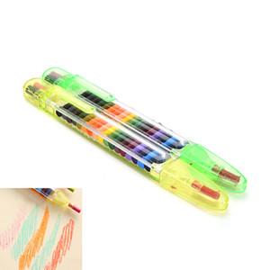 20 colori Olio Pastello Crayons Pen fornire fino Matite Pastelli Stacker disegno a pastelli Graffiti penna del regalo per i bambini Bambini