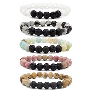 2017 new Lava rock Beads Bracelet New Fashion Lava Stone Mahogany stone   Rutilated Quartz Buddha Beads Bracelets For Women