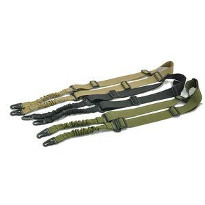 조정 가능한 길이를 가진 총을위한 던지기 2 점 전술상 나일론 어깨 끈은 ourdoor 사냥 쐈어 엽총을 위해 sling
