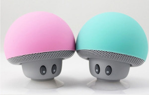 2018 Fashion Mushroom Wireless Mini Bluetooth Speaker Portable Bluetooth estéreo impermeable para teléfono móvil con paquete al por menor