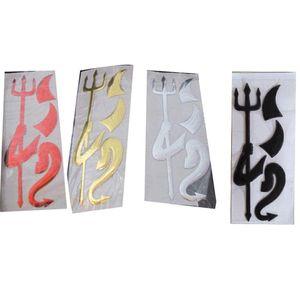 Decalques do carro do diabo 3d adesivos para carros adesivos engraçados para emblemas do carro do carro crachá