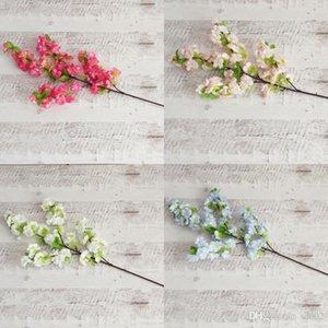 Flor de cerejeira artificial para decorações de festa de casamento simulação ramo de sakura flores falsas fotografia suprimentos muitos color5 8xs zz