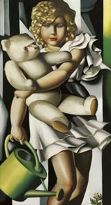 """Tamara de Lempicka Portait de M. Poum Rachoi""손으로 그린 유화 벽화 그림 벽 예술 사무실 거실 침실 장식 F7 #"