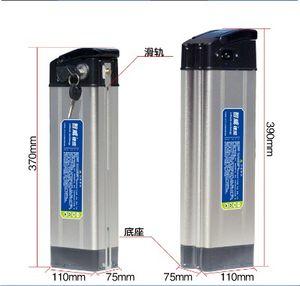 24v 36v 48V Argent Poisson Vélo électrique au lithium ion 48V 500W 10AH Ebike Li-ion utilisation de la batterie 2000mAh 18650 cellules avec chargeur 2A