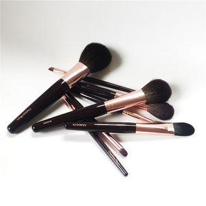 Charlotte_T 8-Brushes Conjunto Completo - Bronzer / Blusher / Blender / Fundação / PowderSculpt / Smudge / Lábio / Eye Liner - Makeup Tool Applicatior