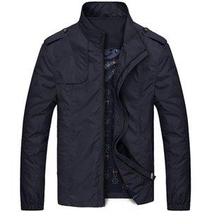 Gevşek Erkekler Casual Ceket Fermuarlar Cepler Uzun Kollu Ince Ceket ve Mont Moda OverCoat Artı Boyutu