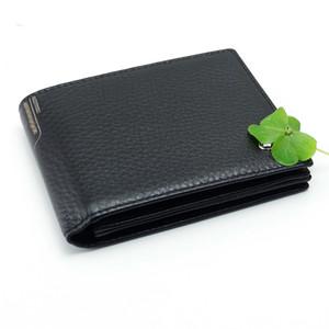Nuevo monedero de cuero genuino para hombre monedero MB carteras caja de tarjeta de visita hombre negro cartera cuadrada titular de tarjeta coleccionista garras
