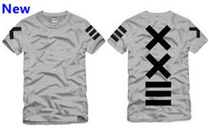 Ropa de moda hba béisbol xxlll camiseta hombre hombre monopatín hip-hop Pyrex hip hop O-cuello camiseta hombres mujeres W2