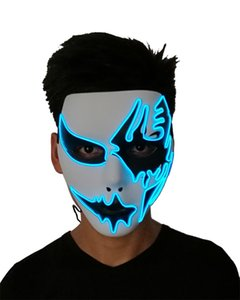 Scary Masken Halloween New El Cold Light Line-Geist-Purge-Maske Handgemalte Led-Tanz-Party Halloween Cosplay Maskerade Straße 31yc gg