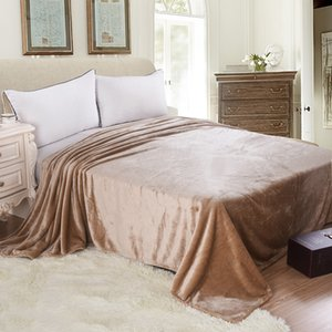 WLIARLEO Thicker Blanket Khaki knitted Blankets Adult Throws For Sofa Super Soft Fleece Blanket frazadas polar 200x230cm