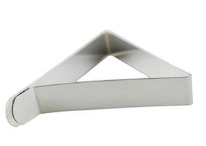 Clips de la cubierta del mantel de acero inoxidable triángulo titular de paño de mesa de la boda de baile manteles abrazaderas prácticas herramientas del partido
