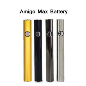 Оригинальный Amigo Max подогрев батареи регулируемое напряжение с зарядным устройством Micro-USB 380mAh 510 резьба Vape ручка масляные картриджи батарея 4 цвета