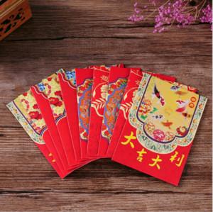 11.5x8.2cm año nuevo sobre rojo sobre rojo de la boda sobre chino rojo afortunado