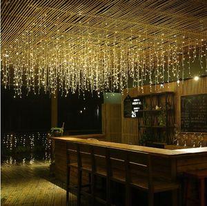 Luces de la secuencia del carámbano de la cortina del Año Nuevo LED 4m 13ft Droop 96Led Fairy Garland Light para la decoración al aire libre de la Navidad