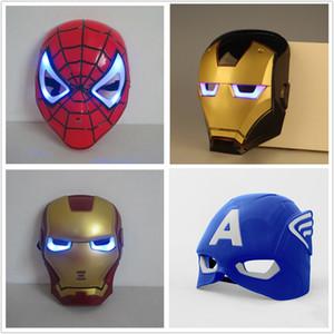 máscara de Natal LED de incandescência super-herói para adulto garoto Avengers Marvel Spiderman capitão ironman máscara américa hulk partido
