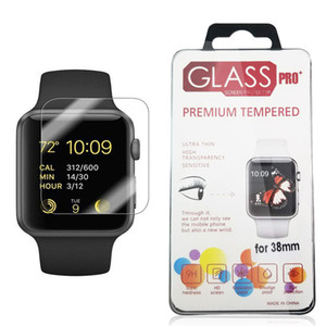 لأبل ووتش iWatch 0.2mm و2.5D 9H الزجاج المقسى فليم حالة 44MM 38MM حامي شاشة LCD عالية الجودة