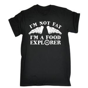 Im Not Fat I A Food Explorer Pizza T Shirt Cuoco Cucina Cuoco Regalo di compleanno Maglietta stampata Maglietta in cotone da uomo Nuovo stile