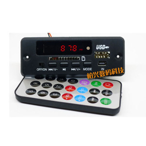 Freeshipping dc modulo ricevitore Bluetooth 12V scheda di decodifica MP3 / WMA / WAV lettore LED digitale radio FM per diy amplificatore altoparlante