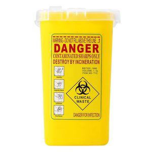 Tattoo Medical Kunststoff Sharps Container Biohazard Nadelentsorgung 1L Abfallbehälter für die Lagerung von infektiösen Abfällen