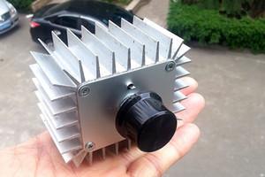 Высокой мощности электронный регулятор напряжения 220В 30А 5000ВТ Scr регулятор затемнения термостат + излучающих алюминиевый корпус