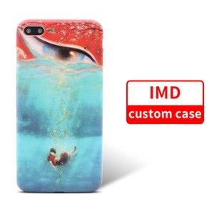 Für iPhone 8 9 X Samsug S9 Benutzerdefinierte IMD TPU Telefon Fall Entwerfen Sie Ihr eigenes Bild Handy Cover
