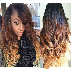 Оммре блондинки полные кружевные парики TOWEEST два тон 1BT27 кружева передних волос для женщин с натуральными волосами
