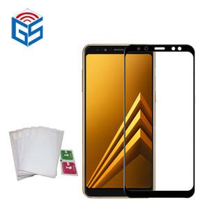 Per Samsung Galaxy A8 A5 2018 A530 A530F / A8 Plus A8 + A7 2018 A730F A730 Protezione per schermo in vetro temperato con protezione 9H a copertura completa 9H