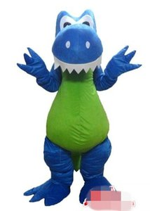 Costume de mascotte de dragon de dinosaure Blue tooth personnalisé costume de caractère taille adulte livraison gratuite