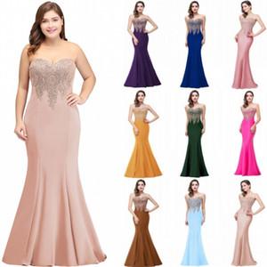 Günstige 2019 Plus Size Meerjungfrau Abendkleid Gold Appliques Lange Formale Frauen Party Abendkleider Robe De Soiree Longue CPS262