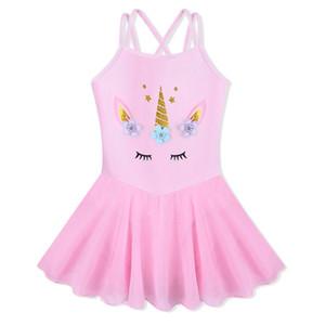 BAOHULU Pretty Little Girls Ballet Leotards Unicorn Flowers Dress Tutu Christmas Choice Girls