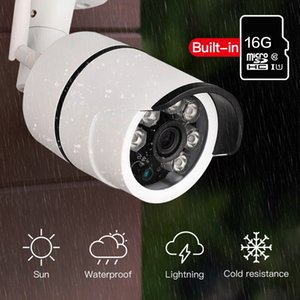 في الهواء الطلق للماء رصاصة كاميرا IP واي فاي كاميرا مراقبة لاسلكية المدمج في بطاقة ذاكرة 16G الدوائر التلفزيونية المغلقة الكاميرا للرؤية الليلية