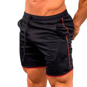 YJSFG HOUSE Marke Männer Shorts Fitness Sweat Lässige Sport Shorts Jogging Bottom Training Sportbekleidung Sommer Strand Kordelzug Schwarz