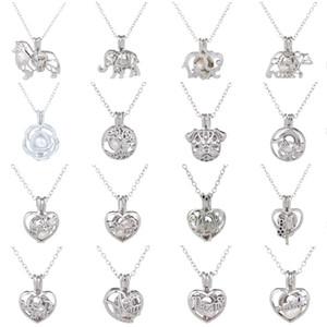 Pearl Cage Pendentif Collier amour désir naturel avec Oyster Pearl Mix Fashion Design creux en forme de coeur chaîne cadeau collier bricolage gros