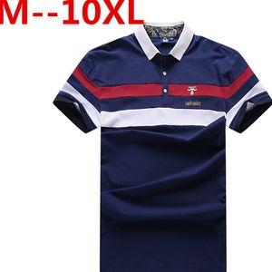 PLus size 10XL 9XL 8XL 7XL 6XL 5XL 4XL Cotton camisa Men Shirt 2018 Casual Striped Slim short sleeves big size loose