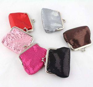 12pcs Sequins Mini Wallet Coin Purse Keys Wallet Pocket Case Cosmetic Makeup Sorter Earphone Bag Colorful Headphone Box Christmas Gifts