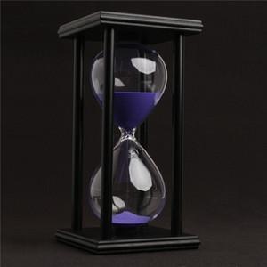 60 minutos Reloj de arena Reloj de arena Temporizador de cuenta regresiva Moderno reloj de arena de madera Decoración del hogar regalos artes y oficios