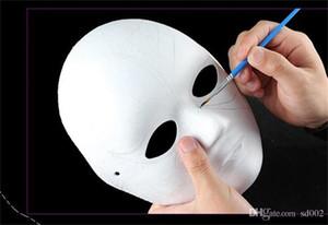 Diy Childrens Arte Pintura Masquerade Handmade Polpa Mold Máscara Prática Inspirar Imaginação Presente Sem Pintura Engrossar Fácil Carry 1 1xq cc